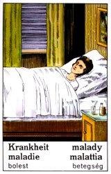 Cigánska karta Choroba / Malady