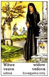 Cigánska karta Vdova / Widow